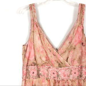 NWOT Robbie Bee Silk Floral Dress